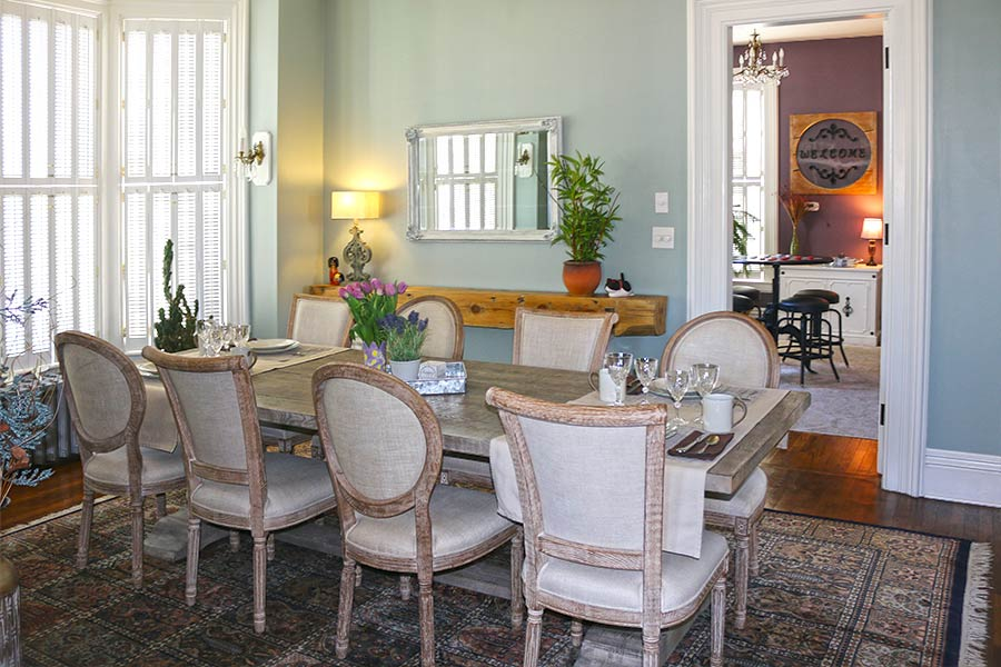 the Lewis House dining room