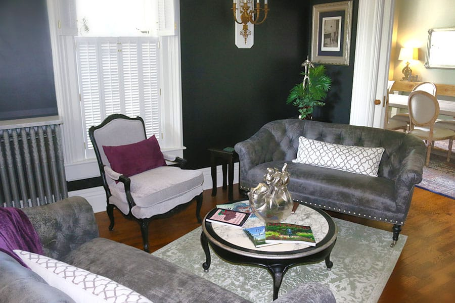 the Lewis House living room